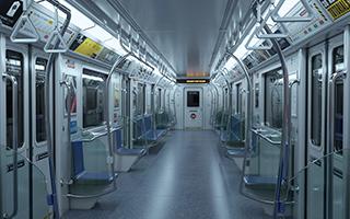 超精致地铁车厢场景模型max fbx obj格式